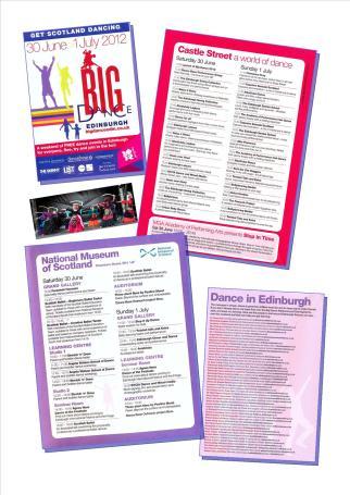 Big Dance 2012 programme