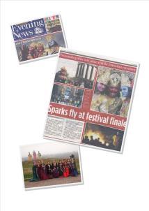 Edinburgh Evening News coverage of Dusherra