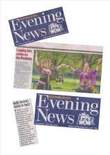 Edinburgh Evening News promoting Meadows Festival