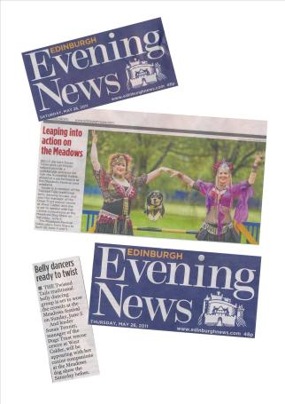 Edinburgh Evening News promoting Meadows Festival