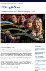 Leith Festival Launch in Edinburgh Evening News