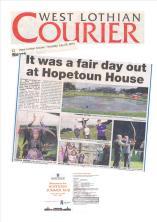 Courier Coverage of Hopetoun House summer fair