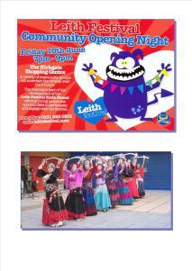 Leith Festival Fliers