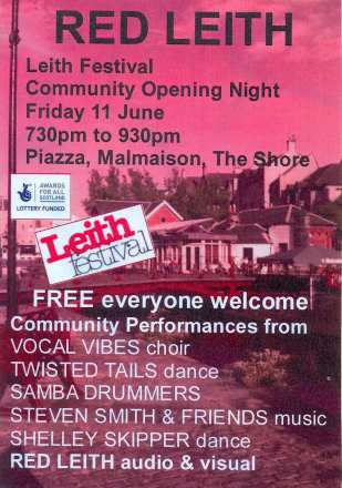 Red Leith Festival Poster