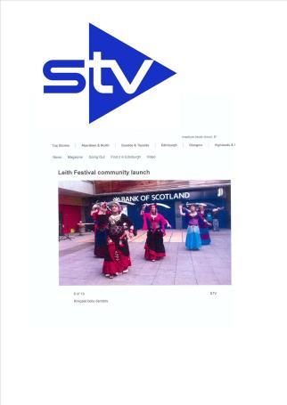 STV coverage of Leith Festival