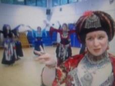 Susan being interviewed for STV news